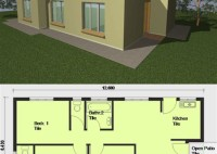2 Bedroom House Plans Africa