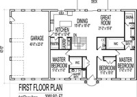 2000 Square Foot Home Plans One Story