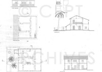 House Plan Elevation And Section