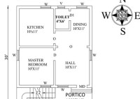 South Facing House Vastu Plan 20 X 30