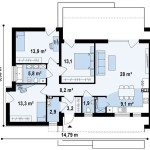 Modern mountain cabin floor plans for 100 sq meters house floor plan